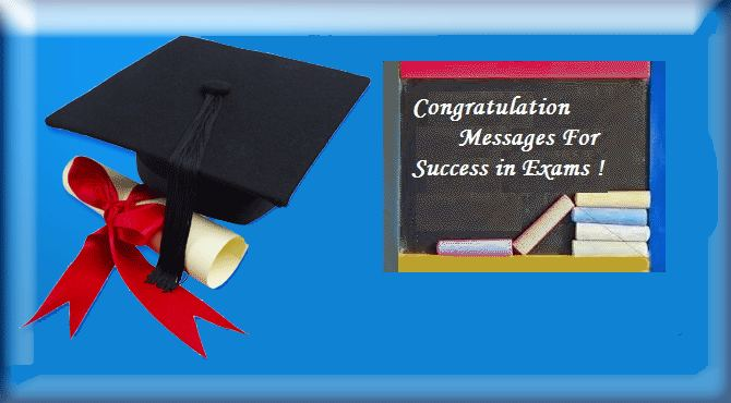 Congratulations messages for success in exam